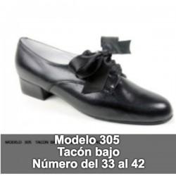 Zapato Baile Regional Tacón Bajo