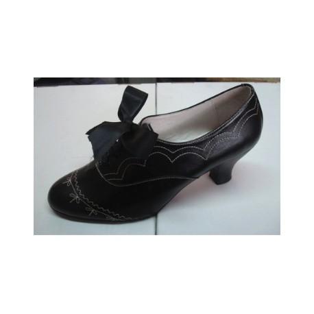 Zapato Traje Regional Mujer con lazada