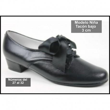 Zapato Piel Para Traje Regional Niña
